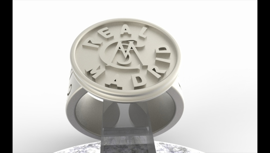Real Madrid Fan Ring Vintage Edition  3D Print 140629
