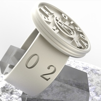 Small Real Madrid Fan Ring Vintage Edition  3D Printing 140630