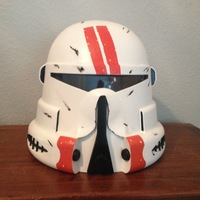 Small Star Wars: Clone Airborne Trooper Helmet 3D Printing 140638