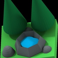 Small pond in garden 3D Printing 14066