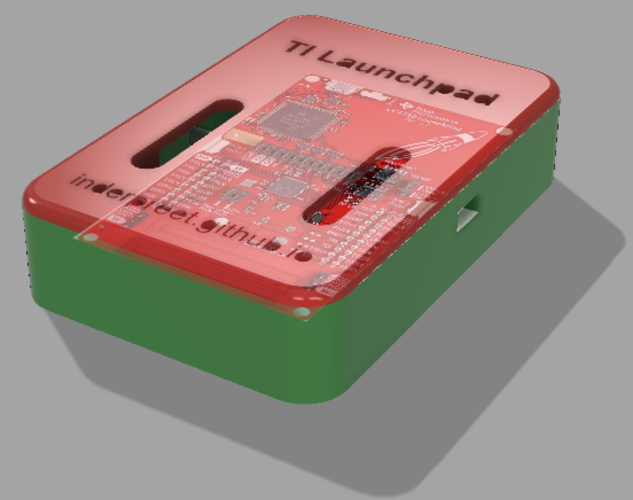 TI Launchpad Case Version 1.1 3D Print 140676