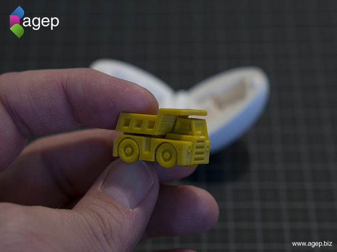 Surprise Egg #1 - Tiny Haul Truck 3D Print 140692