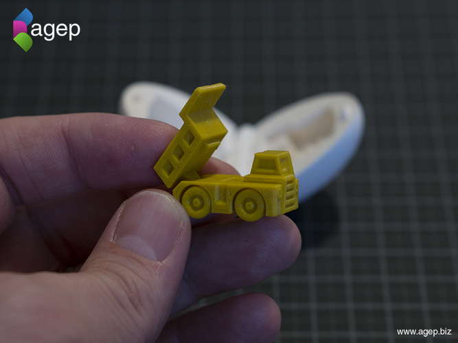 Surprise Egg #1 - Tiny Haul Truck 3D Print 140693