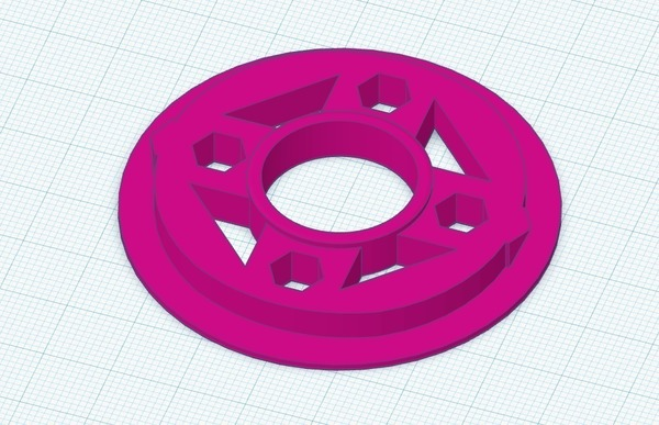 Medium 5DF Spool Adapter with 608 bearing 3D Printing 140768