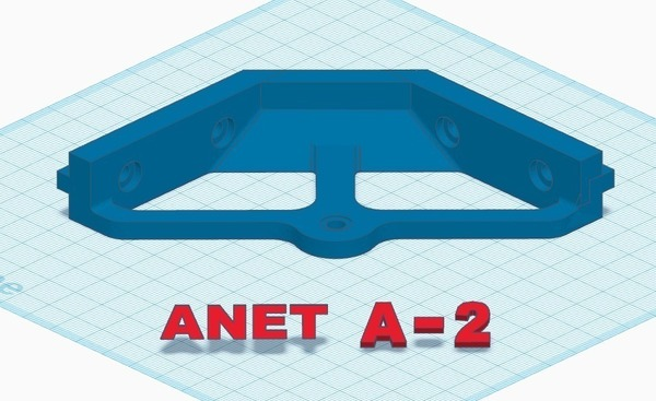 Medium Anet A2 2020 gusset table mount 3D Printing 140779