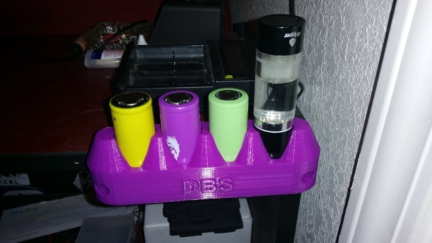 26650 Battery Shelf 3D Print 140784