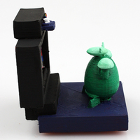 Small sheepy's sister watching tv 3D Printing 14085