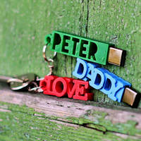 Small PETER USB Case with Keyring 3D Printing 140853