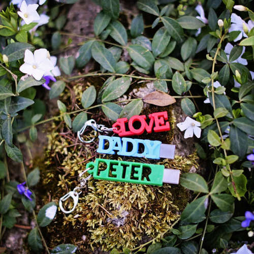 PETER USB Case with Keyring 3D Print 140856