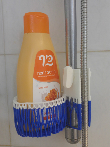Voronoi Shampoo Holder with clamp 3D Print 140858
