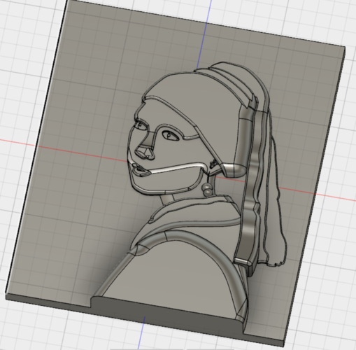 The Girl with the Pearl Earring (Vermeer) 3D Print 140859