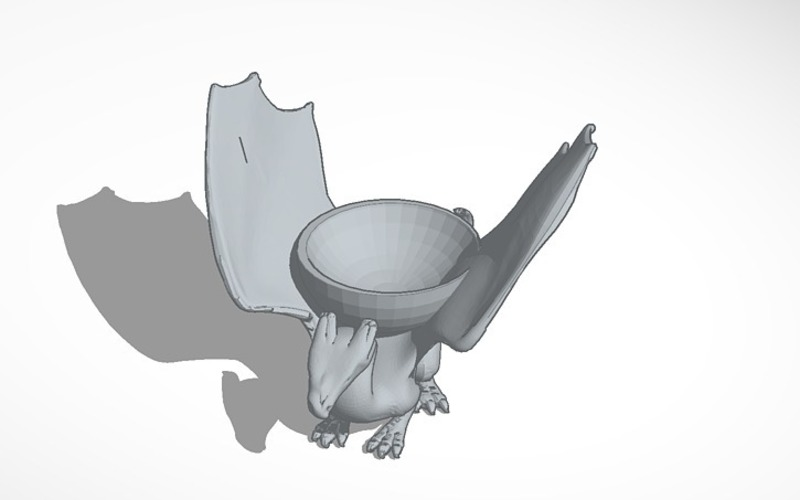 dragon dish without stand 3D Print 14092