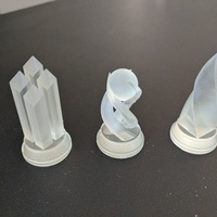 Small Crystal Chess Set - SLA 3D Printing 3D Printing 140923