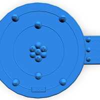 Small Braille Atom Model 3D Printing 140930