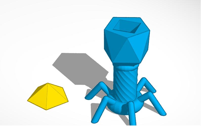 Biology model of a Bacteriophage 3D Print 140966