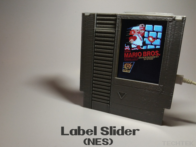 Label Slider - (NES) 3D Print 140984