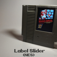 Small Label Slider - (NES) 3D Printing 140984