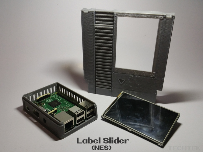 Label Slider - (NES) 3D Print 140986