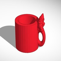 Small makerbot gnome mug 3D Printing 14102