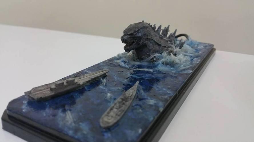 godzilla diorama kit 3d print 141037 - Godzilla Pictures To Print