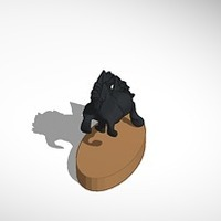 Small dia horse with stand 3D Printing 14104