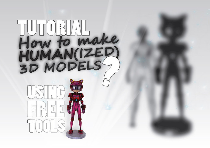 How to make Human(ized) 3D Models? (Tutorial + Example) 3D Print 141049