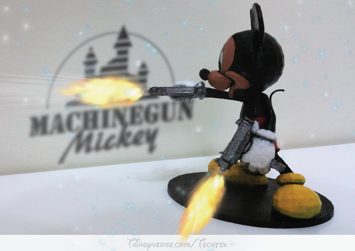 Machinegun Mickey 3D Print 141055