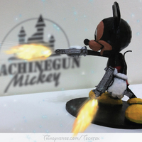Small Machinegun Mickey 3D Printing 141055