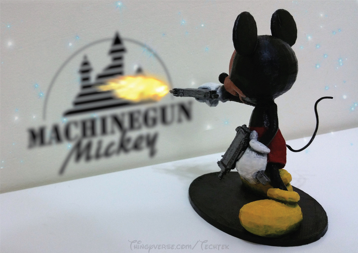 Machinegun Mickey 3D Print 141056