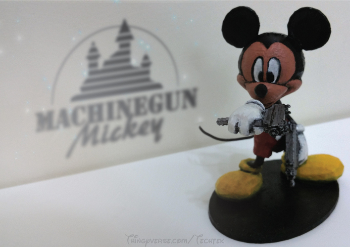 Machinegun Mickey 3D Print 141057