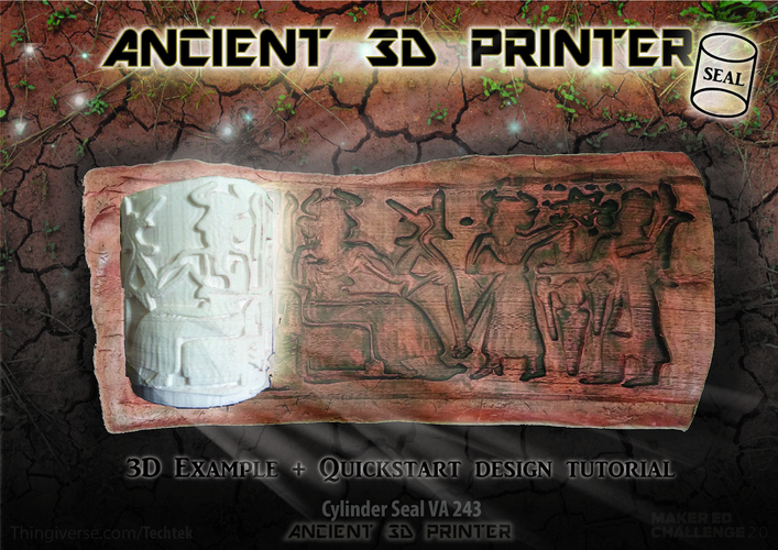 "Ancient ""3d printing"" Technique (Cylinder Seal VA-243) 3D Print 141058"