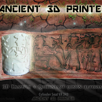 "Small Ancient ""3d printing"" Technique (Cylinder Seal VA-243) 3D Printing 141058"