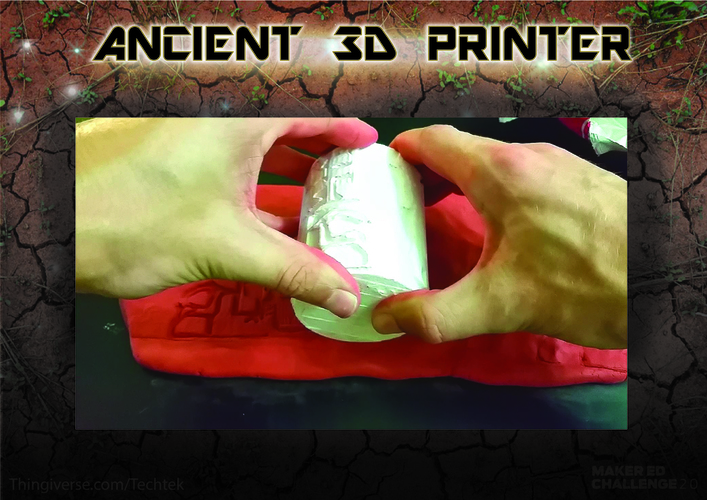 "Ancient ""3d printing"" Technique (Cylinder Seal VA-243) 3D Print 141061"