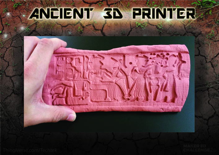 "Ancient ""3d printing"" Technique (Cylinder Seal VA-243) 3D Print 141062"