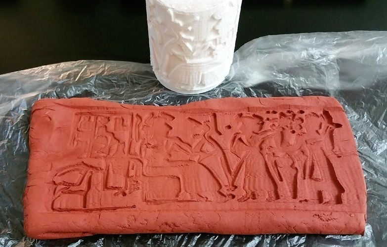 "Ancient ""3d printing"" Technique (Cylinder Seal VA-243) 3D Print 141063"
