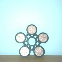 Small 2p fidget spinner 3D Printing 141208