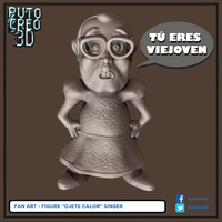 "Small FIGURE SINGER ""OJETE CALOR"" 3D Printing 141209"