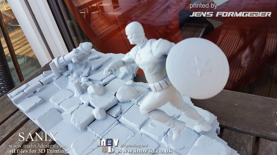 Avengers scene - Captain America 3D Printable Model  3D Print 141226
