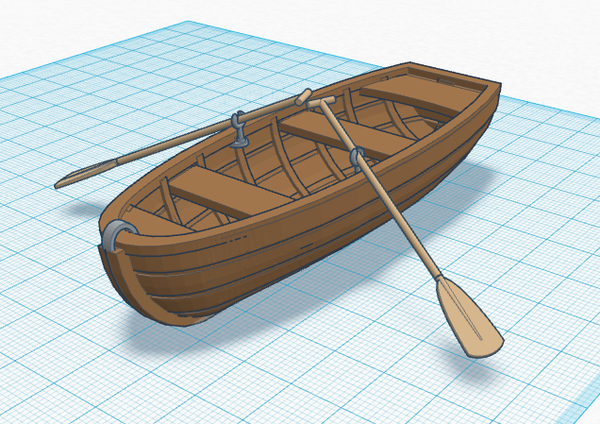 Medium Simple Rowing Boat 3D Printing 141286