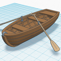 Small Simple Rowing Boat 3D Printing 141286