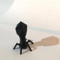Small Biology model of a Bacteriophage 3D Printing 141303