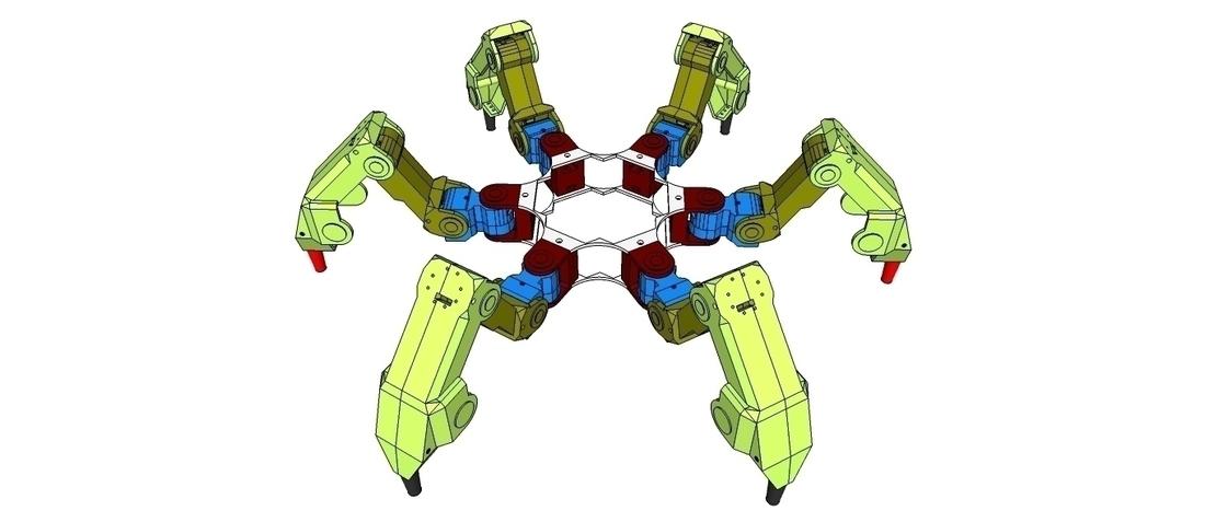 3D Printed Hexapod - H1 - Tarsus by Zalophus Dokdo | Pinshape