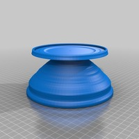 Small  solid platter 3D Printing 14143