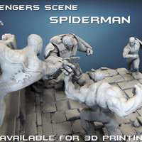 Small Avengers scene - SPIDERMAN / 3D Printable Model  3D Printing 141634