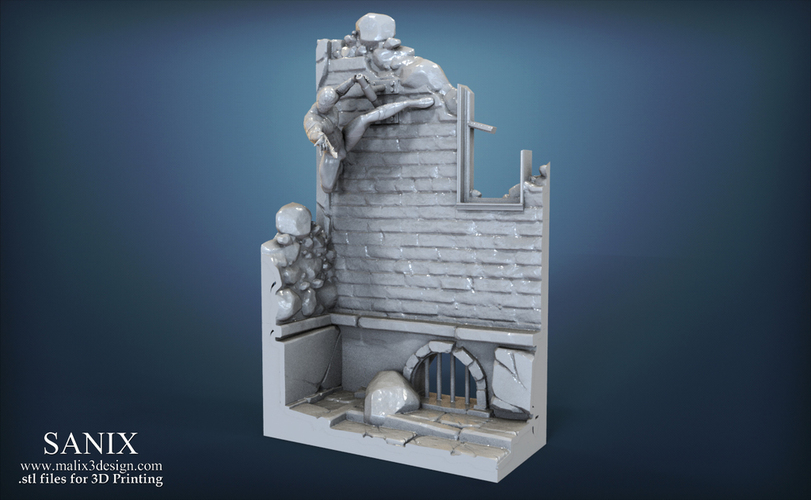 Avengers scene - SPIDERMAN / 3D Printable Model  3D Print 141639