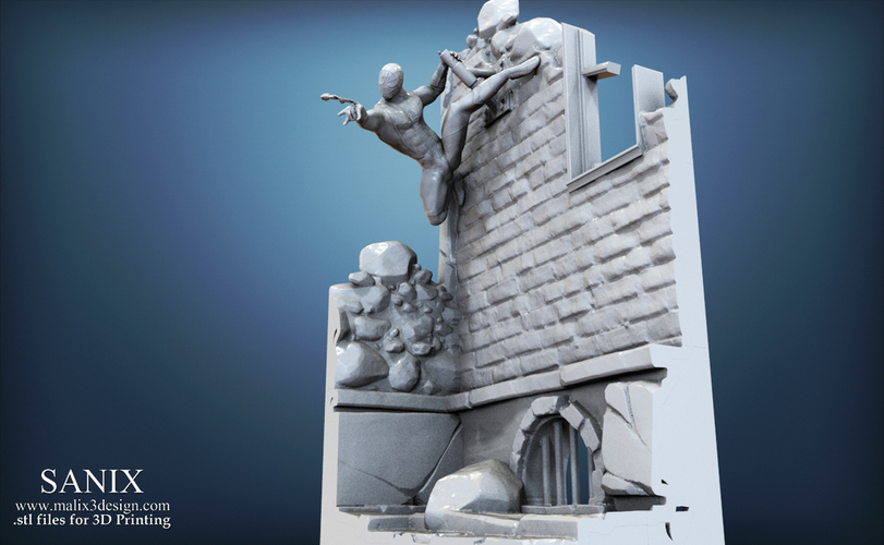 Avengers scene - SPIDERMAN / 3D Printable Model  3D Print 141641