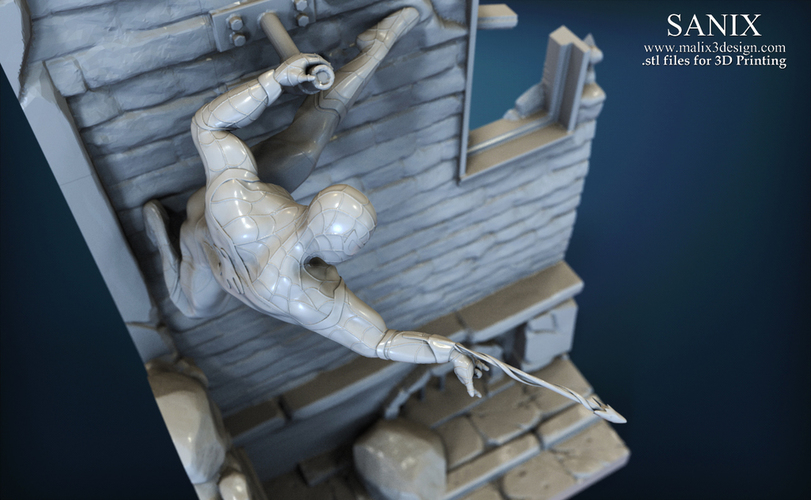Avengers scene - SPIDERMAN / 3D Printable Model  3D Print 141642