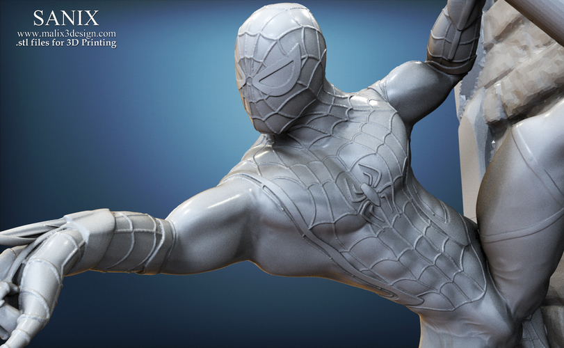 Avengers scene - SPIDERMAN / 3D Printable Model  3D Print 141646