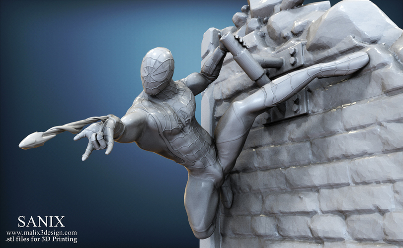 Avengers scene - SPIDERMAN / 3D Printable Model  3D Print 141649