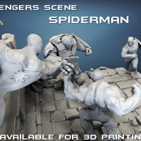 Small Avengers scene - SPIDERMAN / 3D Printable Model 3D Printing 141680